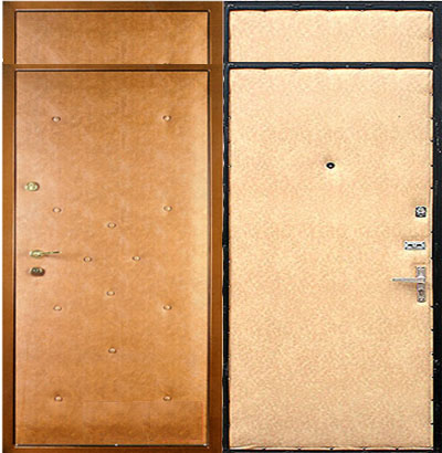 тамбурная металлическая дверь со вставками